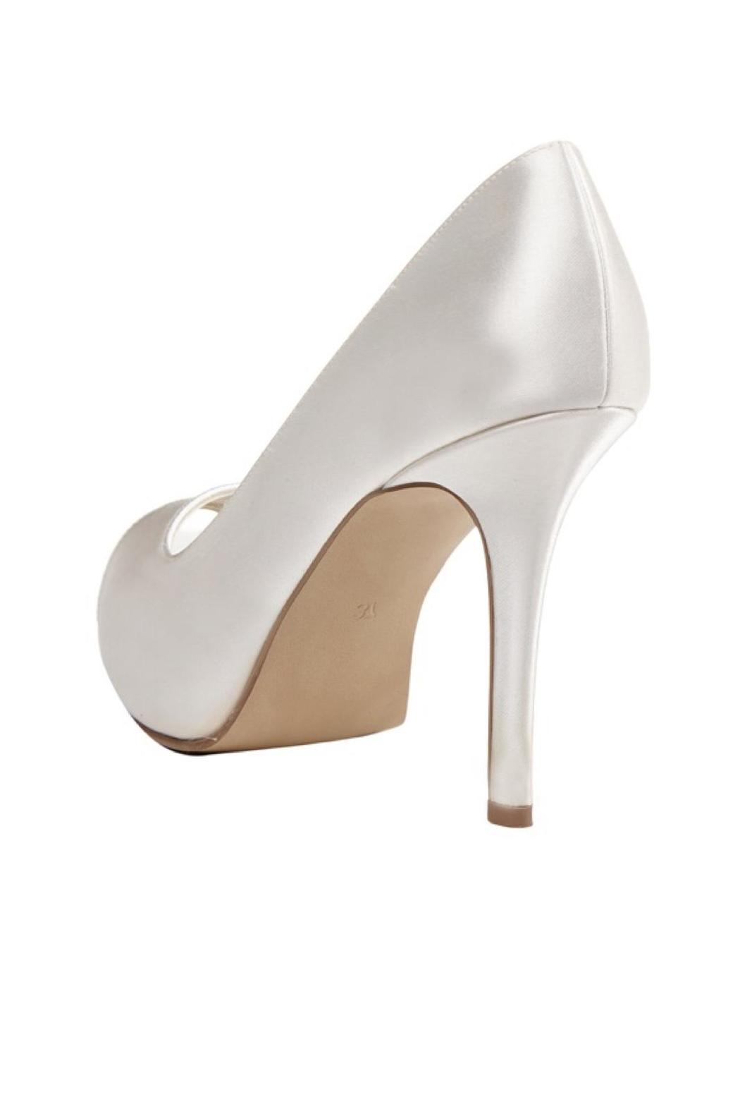 pink paradox London Dream Ivory Satin Stiletto - Side Cropped Image