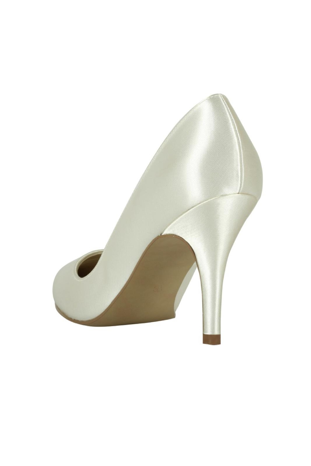 pink paradox London Flush Ivory Satin Shoes - Side Cropped Image