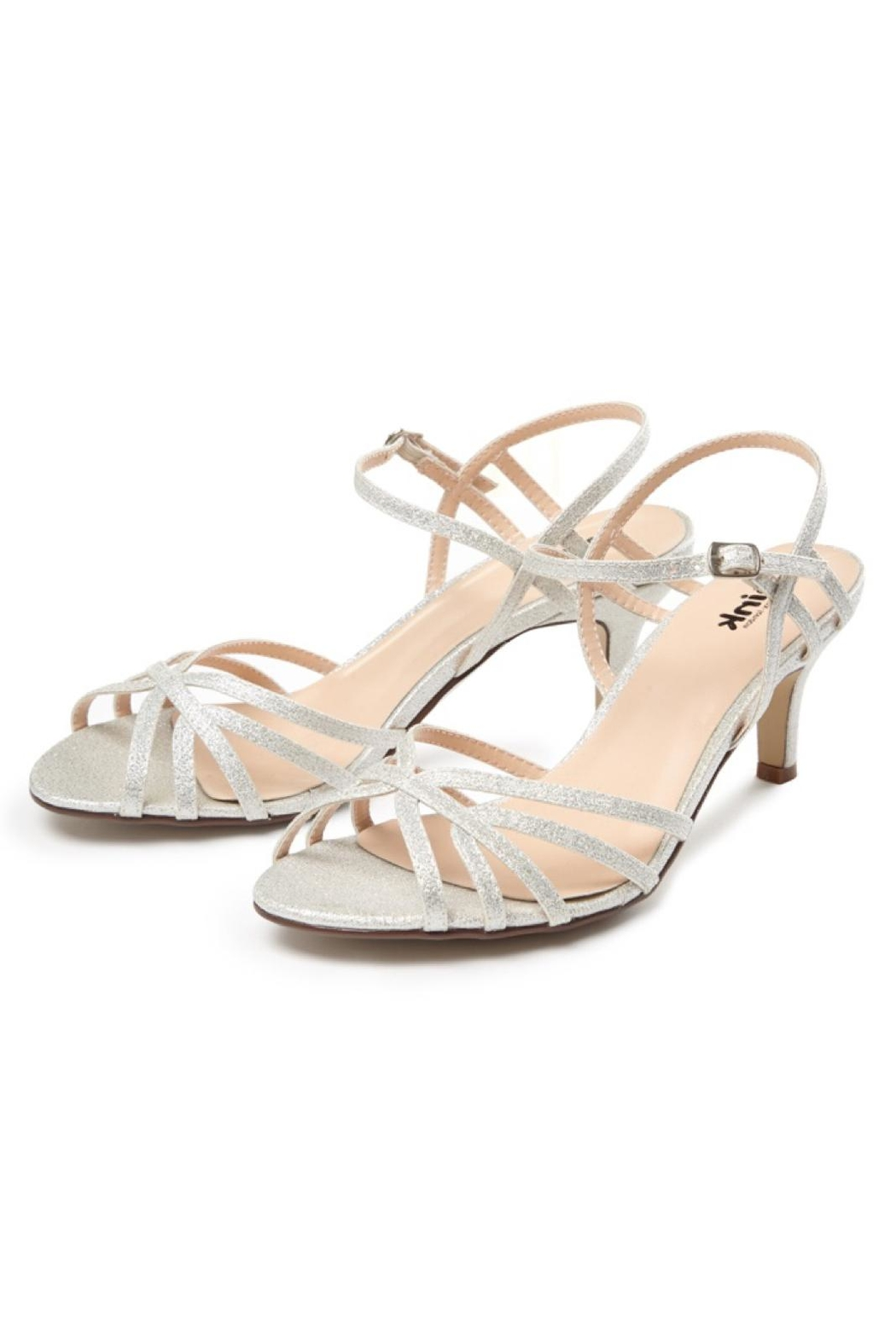 pink paradox London Harper Silver Sandal - Front Full Image