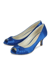 pink paradox London Romantic Blue Satin Heel - Front full body