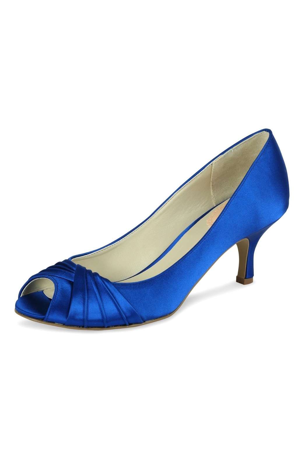 pink paradox London Romantic Blue Satin Heel - Front Cropped Image