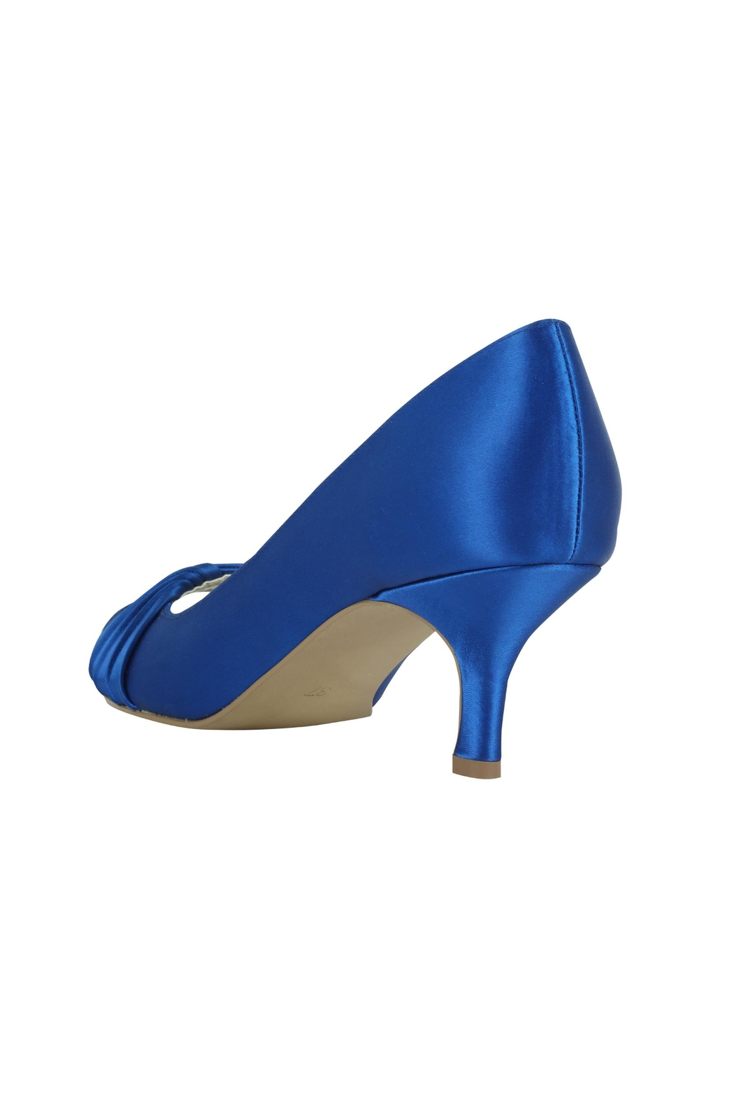 pink paradox London Romantic Blue Satin Heel - Side Cropped Image