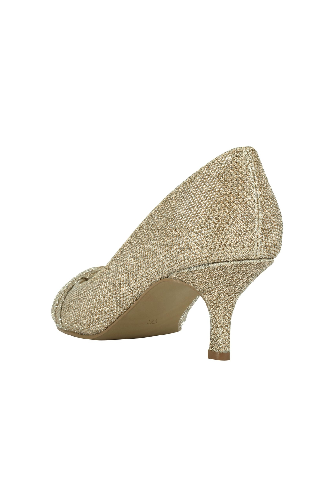 pink paradox London Romantic Champagne Glitter Heel - Side Cropped Image