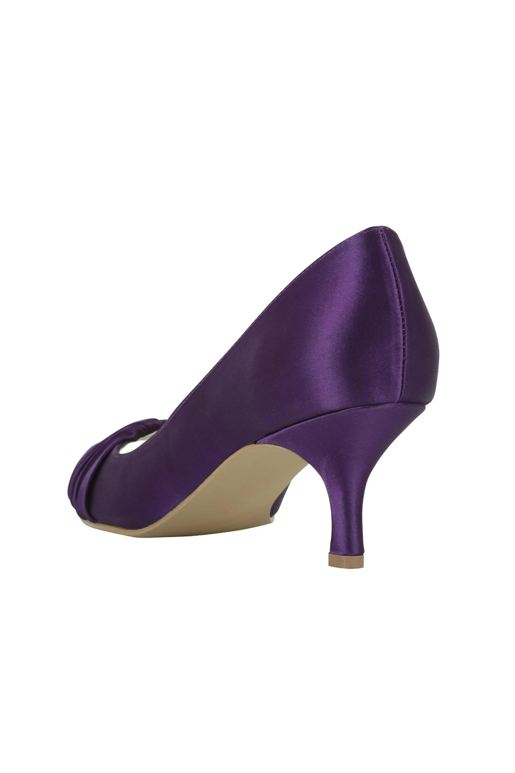 pink paradox London Romantic Purple Satin Heel - Side Cropped Image