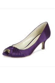 pink paradox London Romantic Purple Satin Heel - Front cropped