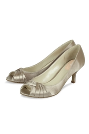 pink paradox London Taupe Satin Heel - Front full body