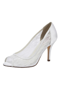 Shoptiques Product: Scrumptious Ivory Lace Heel