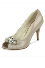 pink paradox London Tender Taupe Satin Shoes - Product Mini Image