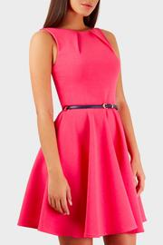 Pink Poodle Boutique Belted Skater Dress - Product Mini Image