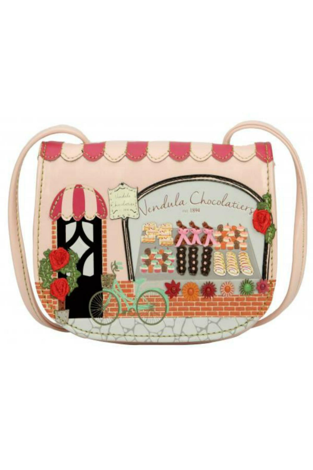 Pink Poodle Boutique Chocolatier Crossbody Bag - Front Cropped Image