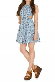 Pink Poodle Boutique Cutout Floral Dress - Front cropped