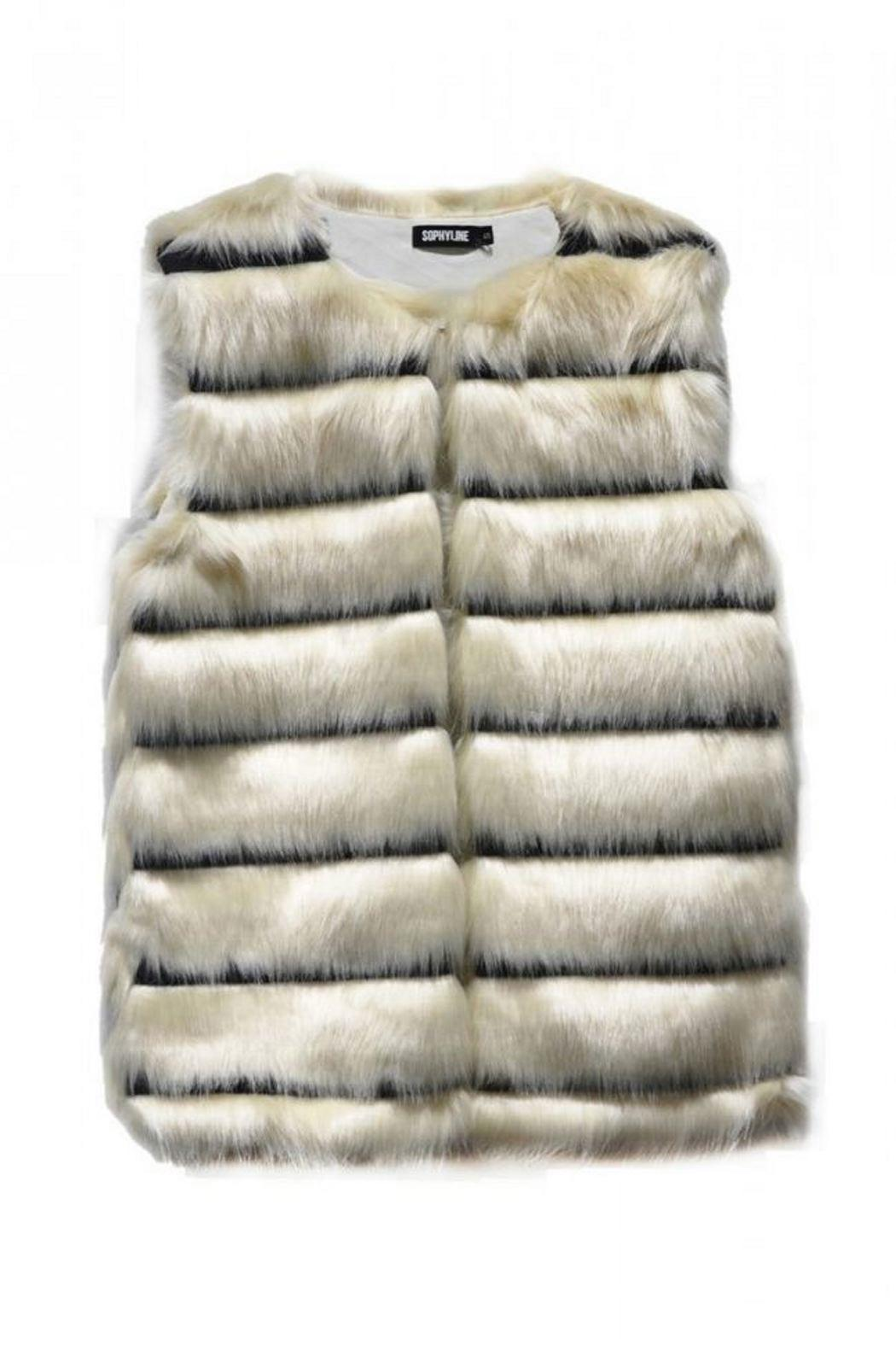Pink Poodle Boutique Faux Fur Vest - Main Image