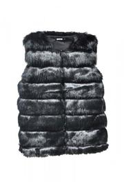 Pink Poodle Boutique Faux Fur Vest - Front cropped