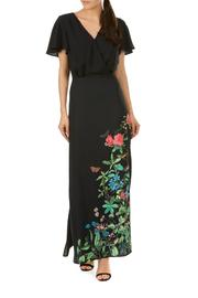 Pink Poodle Boutique Garden Floral Maxi - Side cropped