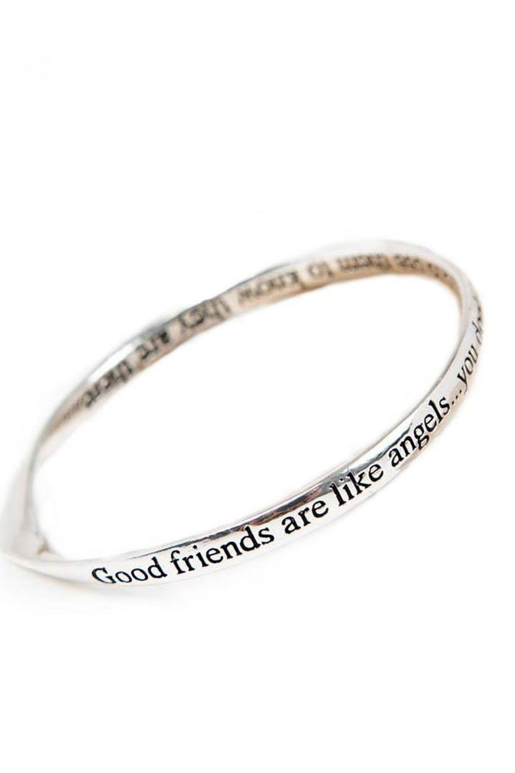 Pink Poodle Boutique Friends Message Bangle - Front Cropped Image