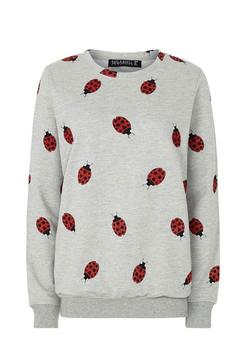 Pink Poodle Boutique Ladybug Print Sweater - Alternate List Image