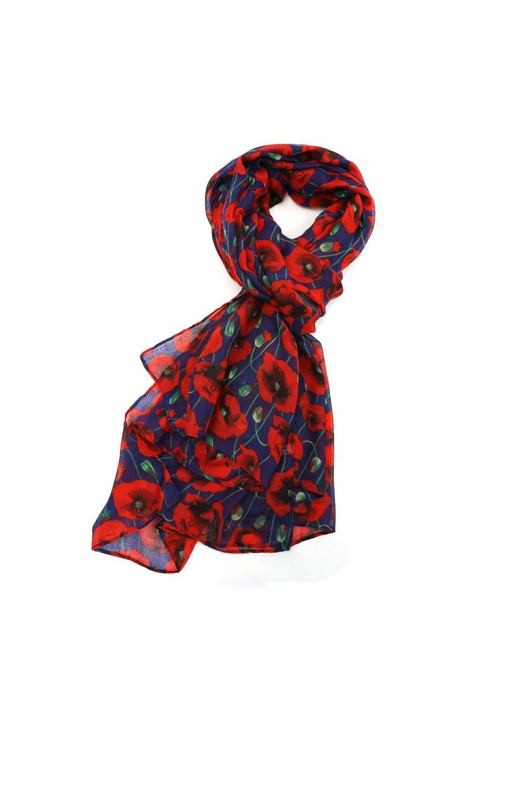 Pink Poodle Boutique Poppy Print Scarf - Main Image