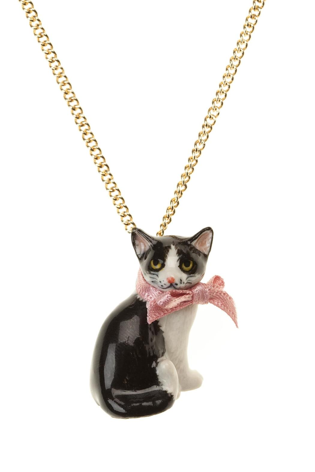 the cat plate double gold shop crystal plated conran necklace