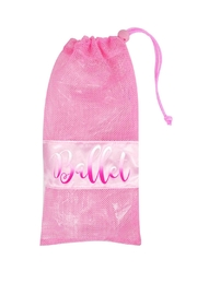 Pink Poppy Ballet Shoe Bag - Front cropped