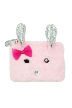 Pink Poppy Bunny Fuzzy Coinpurse - Product List Image