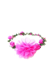 Pink Poppy Lightup Flower Garland - Front cropped