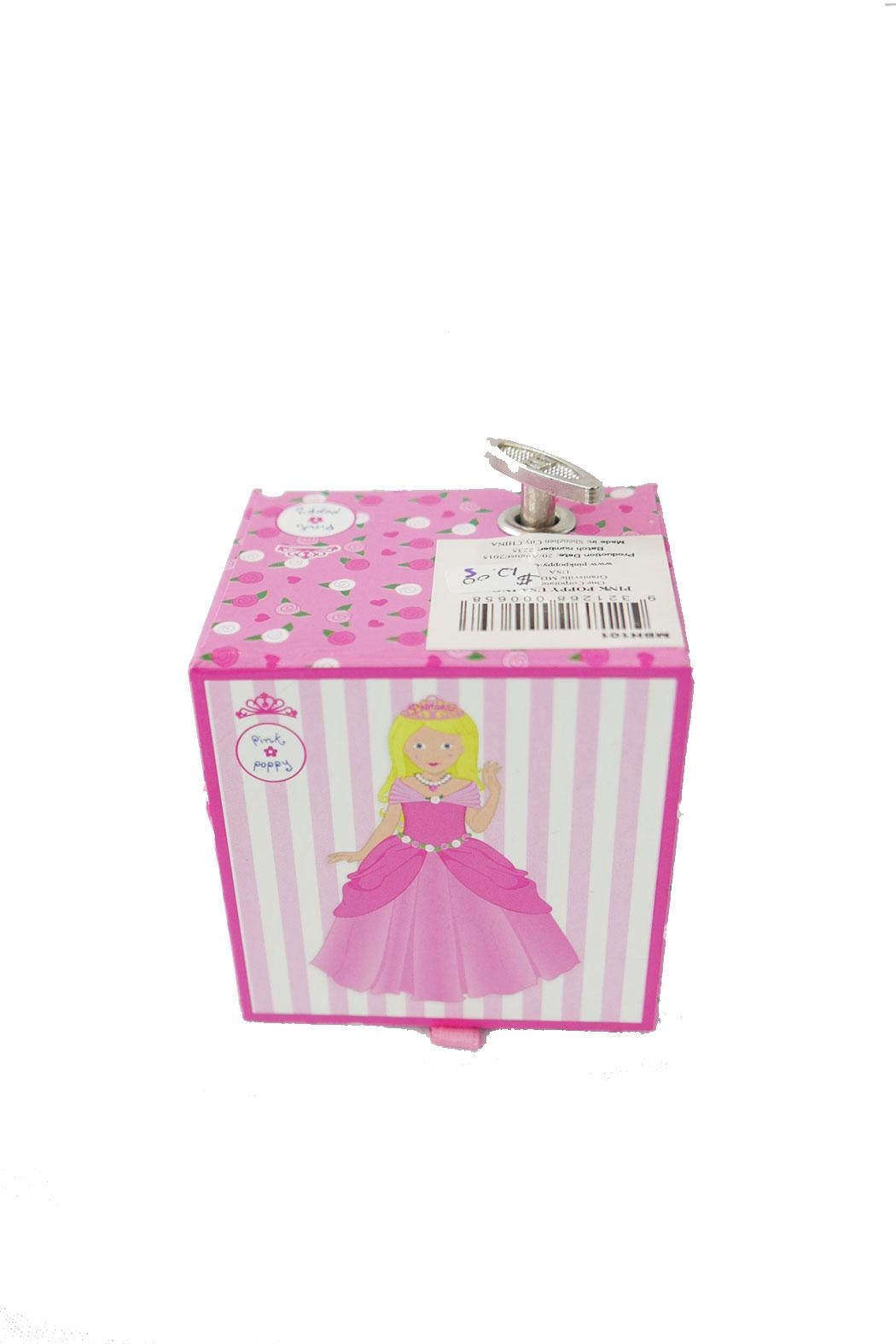 Pink Poppy Princess Musical Box - Side Cropped Image