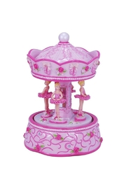 Pink Poppy Rotating Ballerina Carousel - Product Mini Image