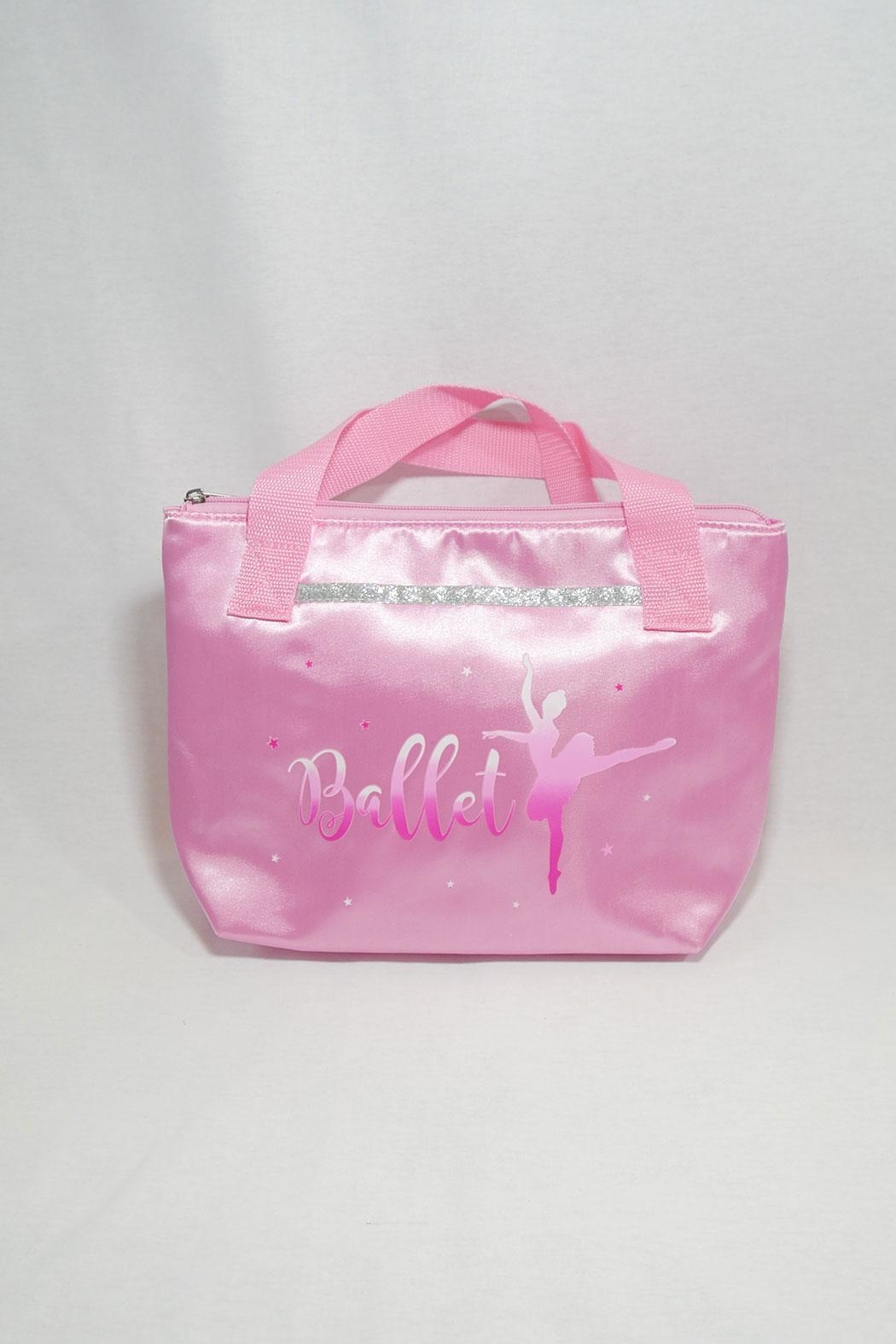 Pink Poppy Satin Ballet Tote - Front Cropped Image