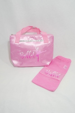 Pink Poppy Satin Ballet Tote - Alternate List Image