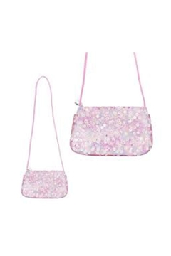 Pink Poppy Sequin Shoulder Bag - Product List Image