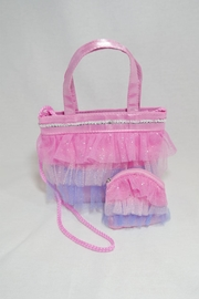 Pink Poppy Tutu Coin Purse - Front full body