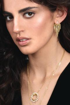 Shoptiques Product: Chaind Pearls Earrings