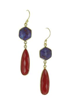 Shoptiques Product: Purple Turquoise Earrings