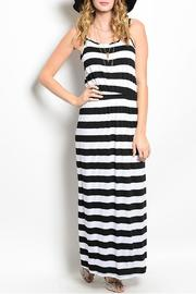 pink rose Stripped Maxi Dress - Product Mini Image