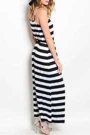 pink rose Stripped Maxi Dress - Front full body