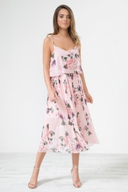 Urban Touch Pinkfloral Pleated Mididress - Product Mini Image