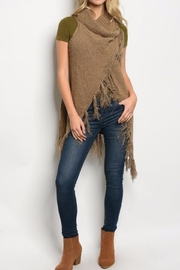 Pinklicious Fringe Sweater Vest - Front cropped