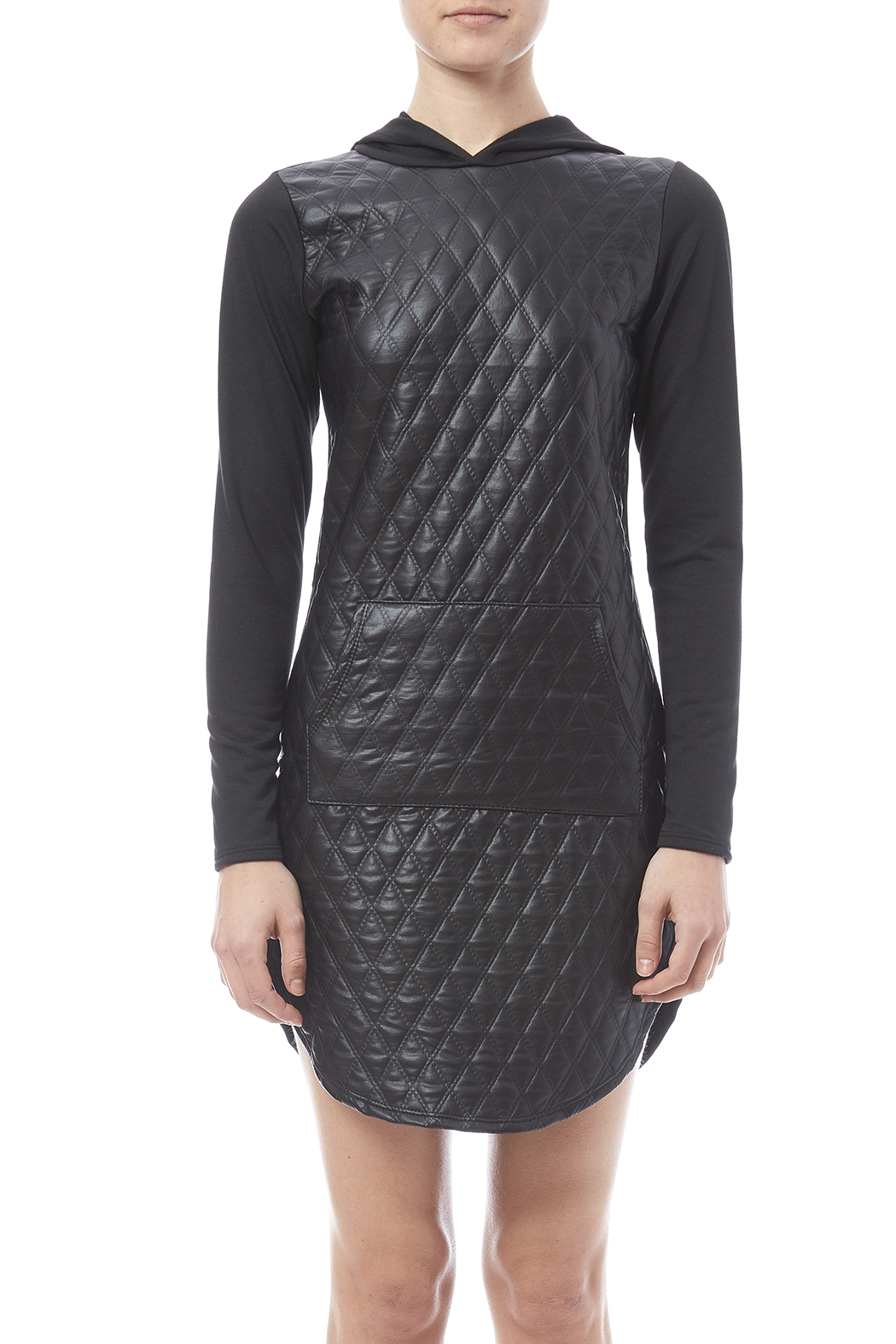 Pinklicioys Vegan Leather Dress - Side Cropped Image