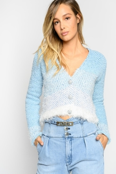Pinko Agone Cardigan Textured Terrycloth - Product List Image
