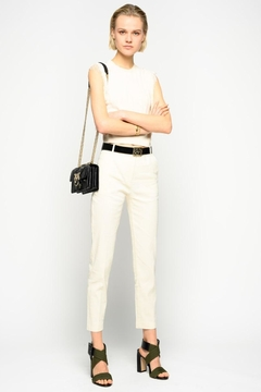 Pinko Bello Cigarette Fit Trousers In Cloth - Product List Image