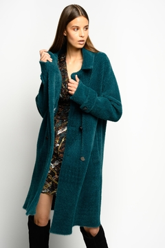 Pinko Birmania Double Breasted Faux Fur Coat - Product List Image