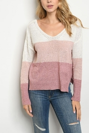 Lyn -Maree's Pinks Color Block V Back - Front full body