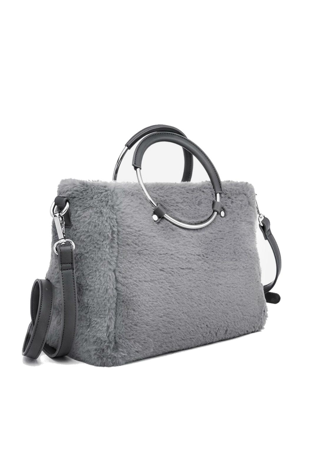 Pinkstix Grey Faux Purse - Front Full Image
