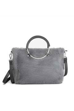 Shoptiques Product: Grey Faux Purse