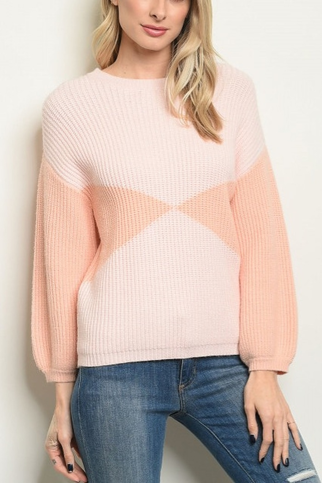 Lyn -Maree's Pinky Peach Sweater - Main Image