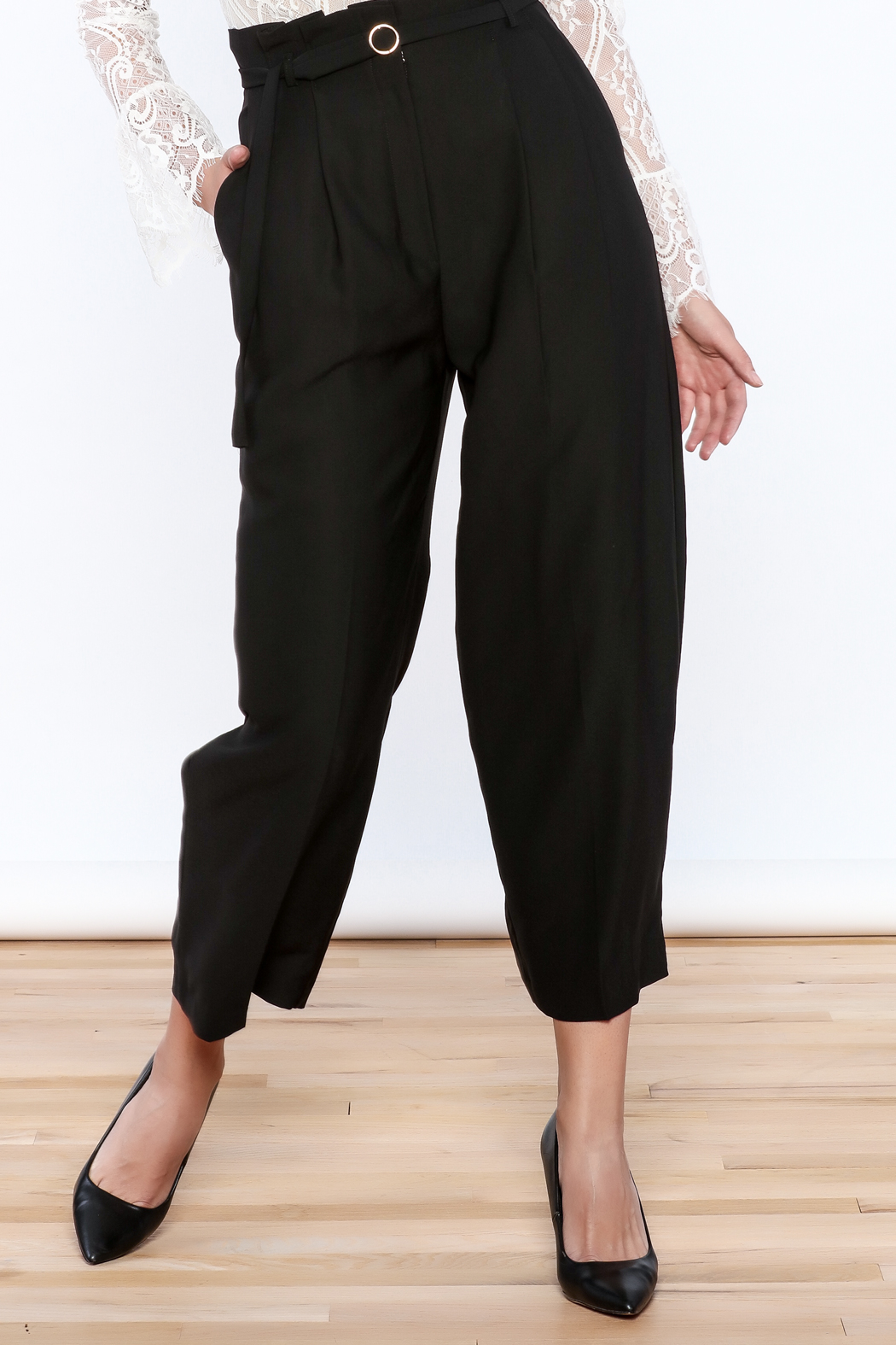 Pinkyotto Classy Black Pants - Front Cropped Image