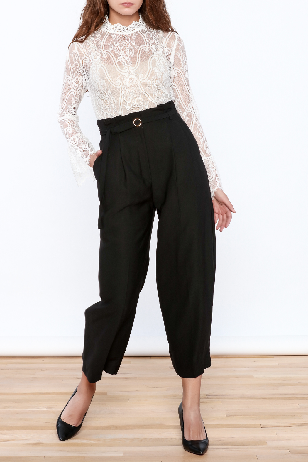 Pinkyotto Classy Black Pants - Side Cropped Image