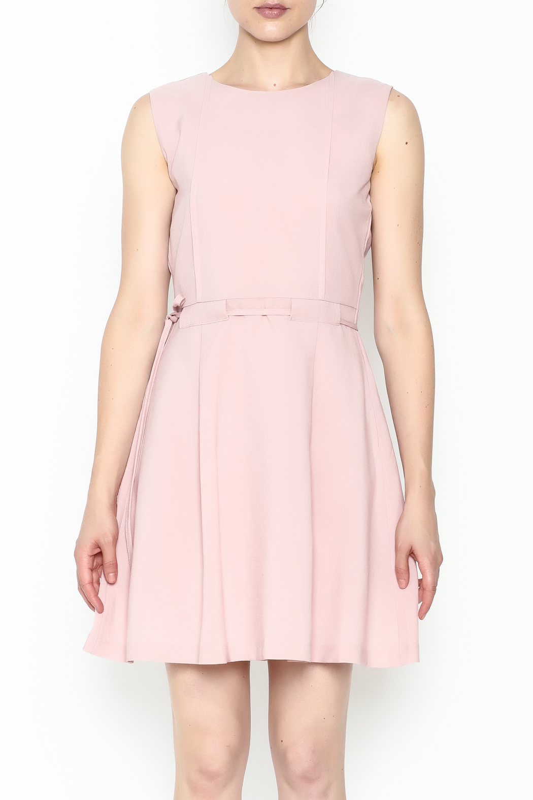 Pinkyotto Waisted Flare Dress - Front Full Image