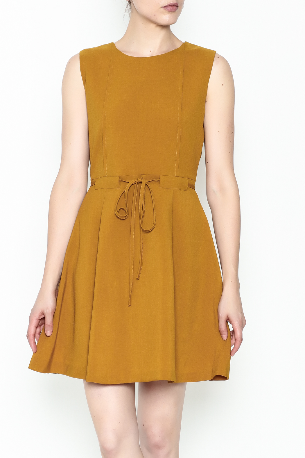 Pinkyotto Waisted Flare Dress - Main Image
