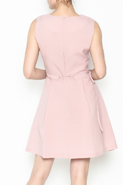 Pinkyotto Waisted Flare Dress - Back cropped